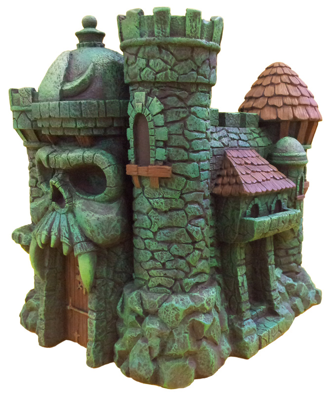 "Masters of the Universe Castle Grayskull  and Snake Mountain Polystone Environment ""ICON HEREOS"" 68390910"