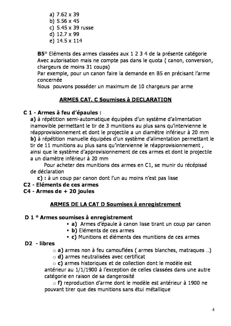 Questions concernant les armes de catégorie C. 72027713