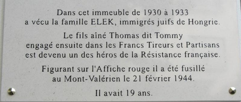La famille Elek : elle vécu à Fontenay à partir de 1930 211
