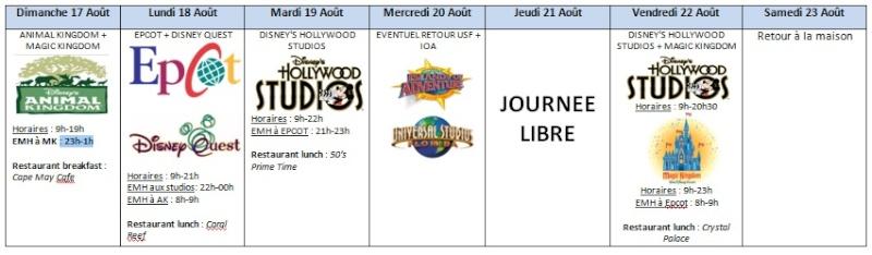 PRE-TR : Août 2014, WDW, Universal, SW, DC... Un rêve va se réaliser ! - Page 4 Planif11