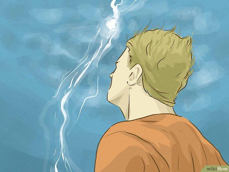 Attitude et Protection face à la foudre / orage. 78950410