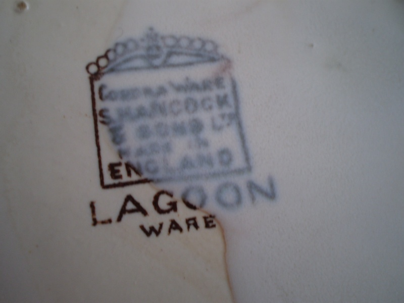 "S. Hancock & Sons (Staffs). Corona Ware, ""Lagoon Ware"".  20140132"