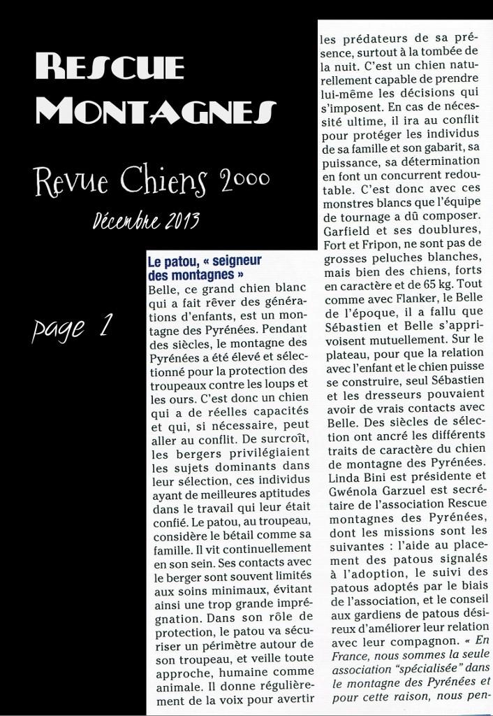Rescue Montagnes dans la presse Ccf13110