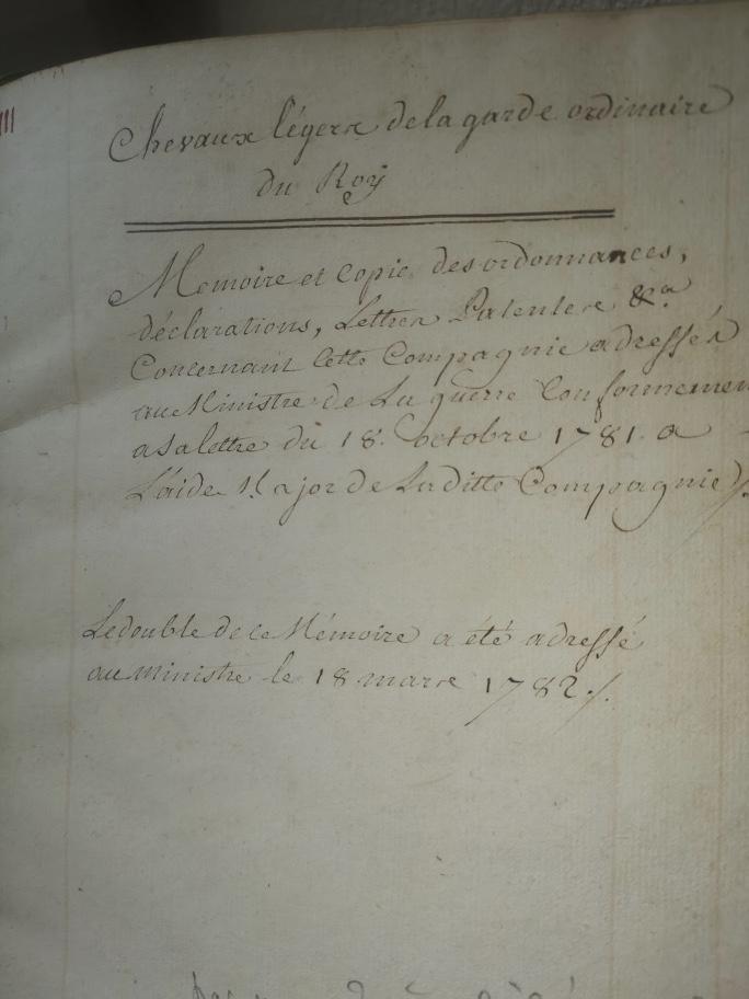 "manuscrits des ""cheveau legers de la garde du roy""  Fullsi95"