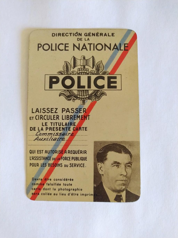 Carte de commissaire de police vichy  Img_2185
