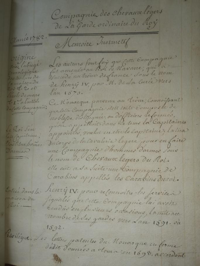 """manuscrits des """"cheveau legers de la garde du roy""""  Img_2202"""