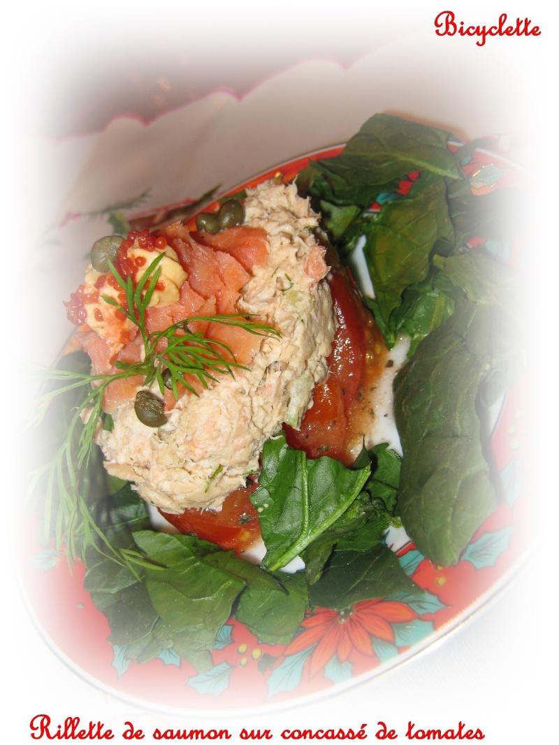Rillettes de Saumon sur concassé de tomates  5858-110