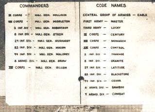 Cartes de progression de la 9th army us Codes_10