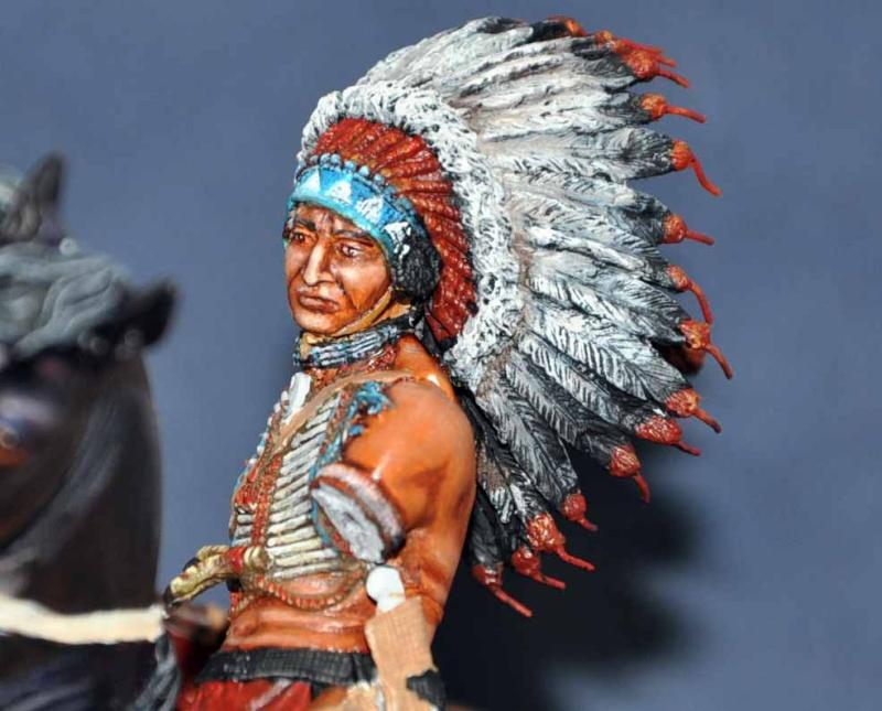 Chef sioux tribu des Lakotas- 90 mm PEGASO. La fin Dsc_0058