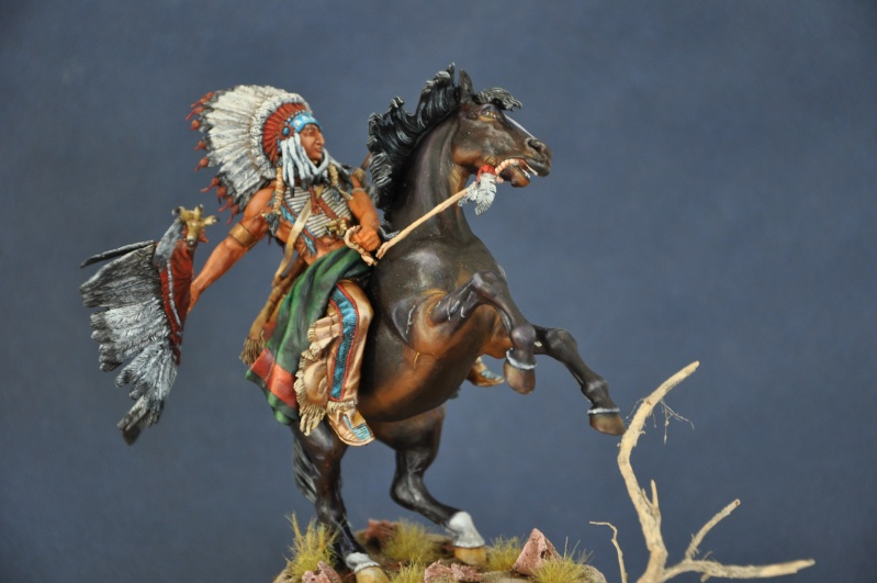 Chef sioux tribu des Lakotas- 90 mm PEGASO. La fin Dsc_0070