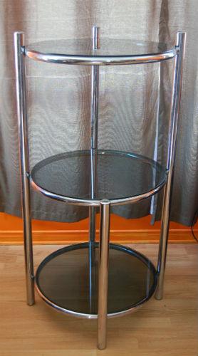 VENDU - table basse de salon et étagère chromé ¤ 1_00110