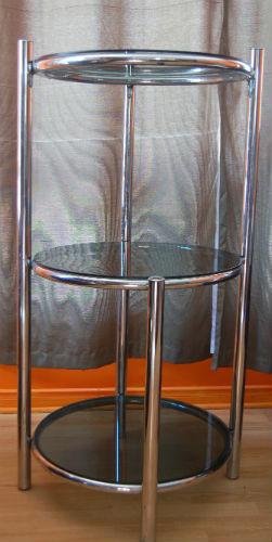 VENDU - table basse de salon et étagère chromé ¤ 1_00210