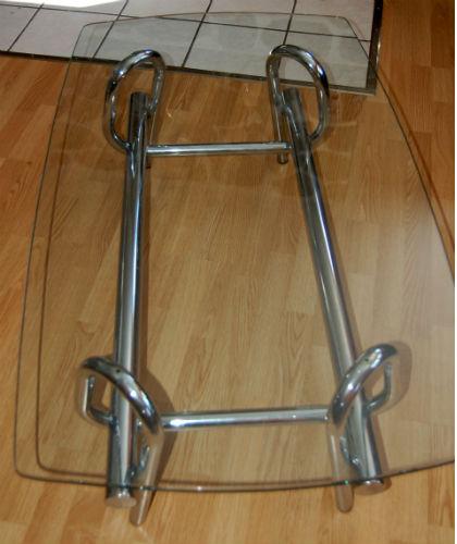 VENDU - table basse de salon et étagère chromé ¤ 1_00510