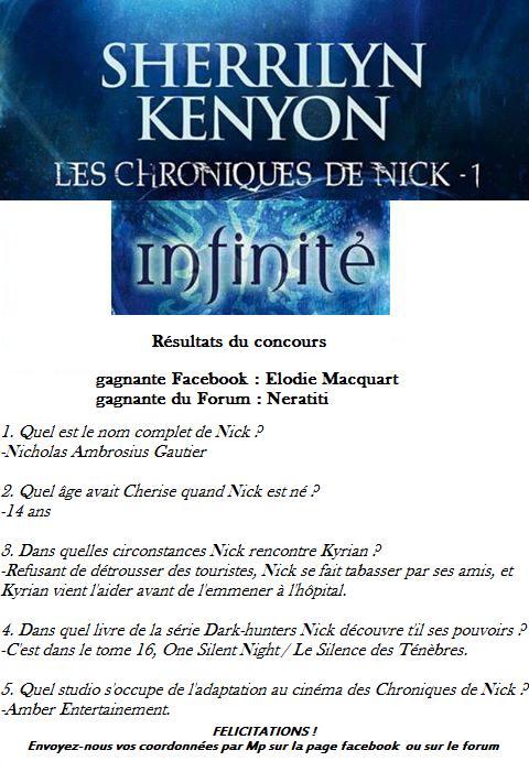 """Concours """"Les Chroniques de Nick, Tome 1, Infinité"""" 60239810"""