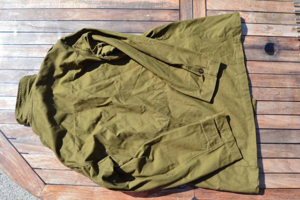Ensemble après-guerre INDO/ALGERIE d'un même homme: vestes, pantalon, équipement cuir, gourde, rangers, chapeau de brousse, musette. AJOUT PHOTOS + BAISSE DE PRIX TERMINE-ALPINS-SEPT1 Dsc_2112