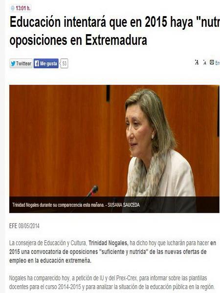 """Educación intentará que en 2015 haya """"nutrida"""" convocatoria de oposiciones en Extremadura Snap9310"""