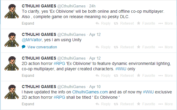 eshop: 2D Action RPG Ex Oblivione Is Headed Exclusively To The Wii U! Cthulh10