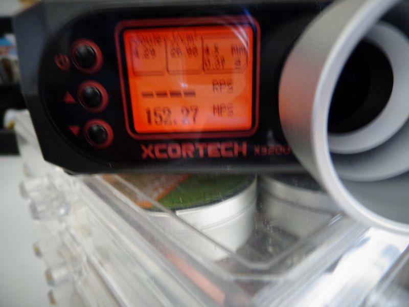 Quelques mesures de vitesse avec la baikal et la weihrauch Chrony13