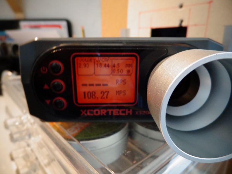 Quelques mesures de vitesse avec la baikal et la weihrauch Chrony14