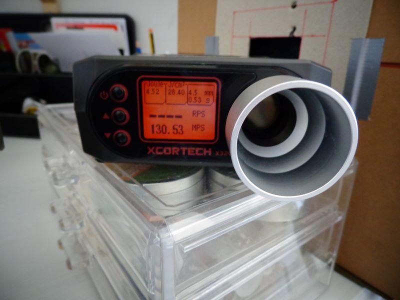 Quelques mesures de vitesse avec la baikal et la weihrauch Chrony15