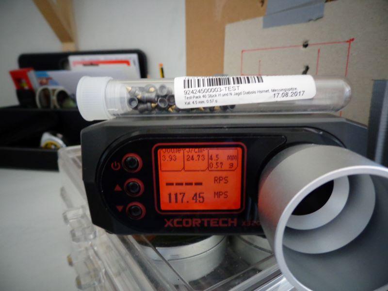 Quelques mesures de vitesse avec la baikal et la weihrauch Chrony16
