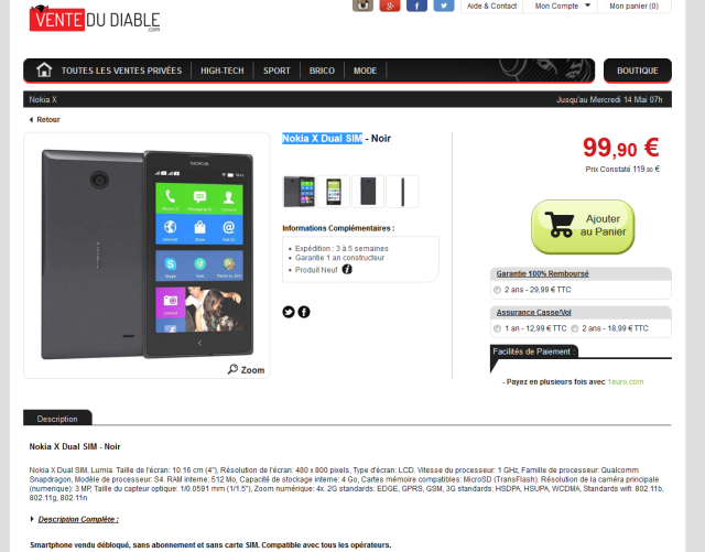 Le NOKIA X à 99€ Nokia10