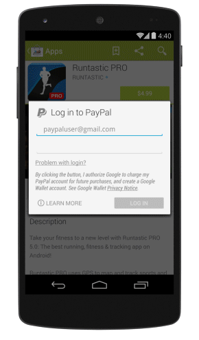 PAYPAL pour le PlayStore Paypal10