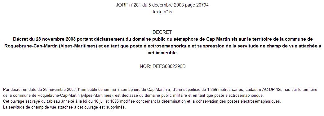 SÉMAPHORE - CAP MARTIN (ALPES MARITIMES) Capmar10