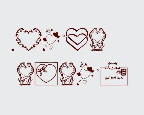 خط ع اشكال قلوب - خط Valentine Oouu_o30