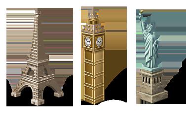 سكرابز معالم اثرية برج ايفل