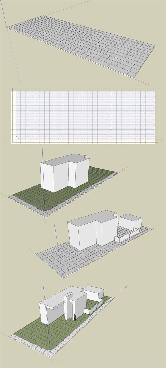 """Challenge thème : """"modélisation et rendu d'une maison atypique"""" - pb3d & Bear17 - SU / Vray / Cinema4D / Photoshop Esquic10"""