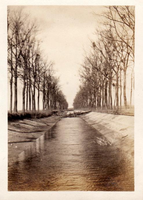 Photos de Cormicy et des environs : le canal, La Neuville et Sapigneul (entre 1914 et 1915) Canal12