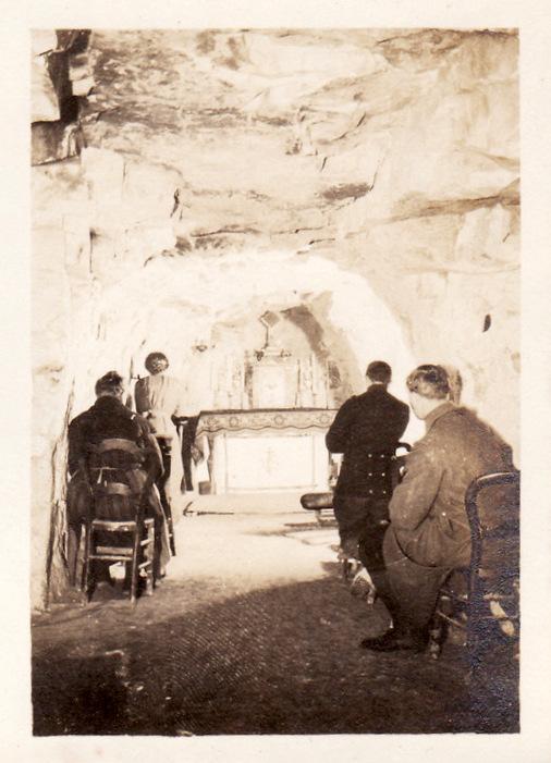 Photos de Cormicy et des environs : le canal, La Neuville et Sapigneul (entre 1914 et 1915) Cave-m10