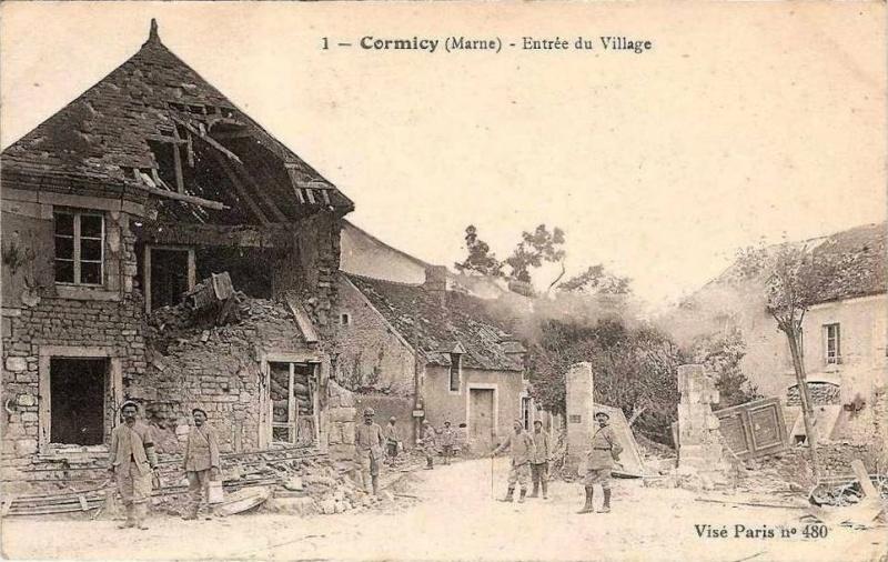 Photos de Cormicy et des environs : le canal, La Neuville et Sapigneul (entre 1914 et 1915) Cormic19