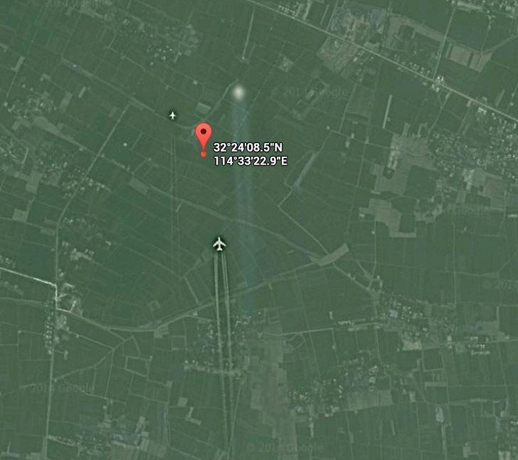 Avion etrange capturé sur google map au dessus de la Chine Avion_10