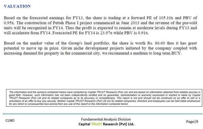 CLND  - Capital Trust Report Last10