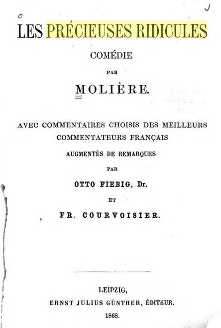 """18 novembre 1659: Première des """"Précieuses ridicules"""" 055_0012"""