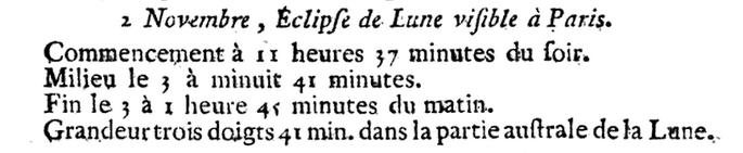 02 novembre 1789: Eclipse 1231