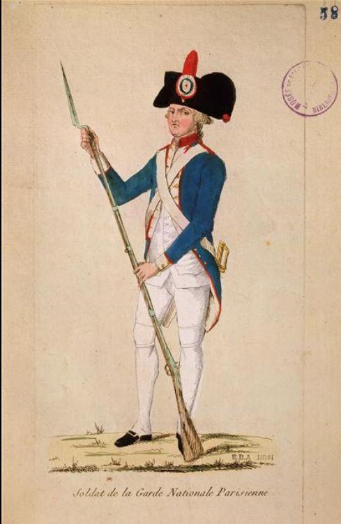 Novembre 1789: Service de la garde nationale au château des Tuileries 1328