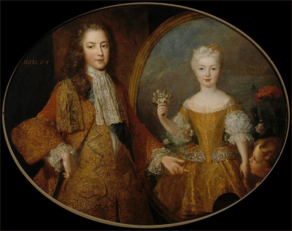 16 novembre 1721: Le contrat de mariage, entre Louis XV et l'Infante d'Espagne Marie Anne Victoire 44726411
