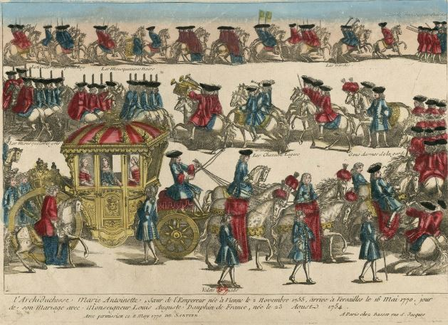 1770 - 13 mai 1770: Marie-Antoinette et Louis XVI se rencontrent enfin à Compiègne.  Capt1191