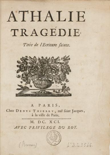 23 mai 1770: Représentation d'Athalie de Racine Capt1204