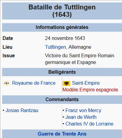 24 novembre 1643: Bataille de Tuttlingen Catre15