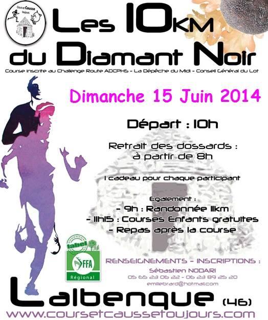 6ème édition 10km du Diamant Noir 2014 : infos Dn10