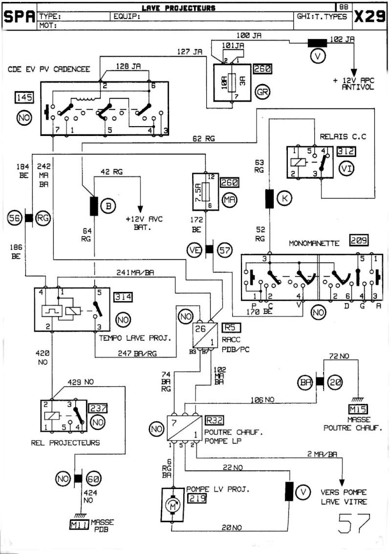 Schéma laves-phares Renault 25 1_leve10