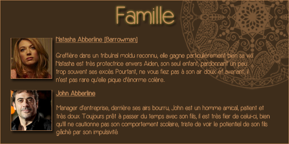 Aiden Abberline et l'amour de l'ironie~  Family11