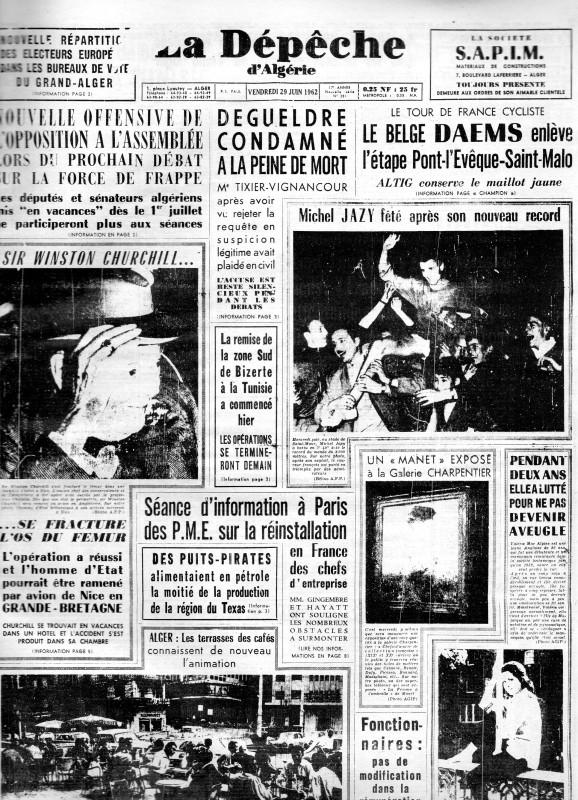 ALGERIE PRESSE JUIN 1962  1101