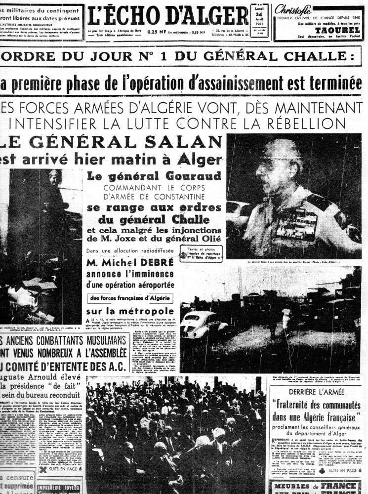 """ALGERIE PRESSE  1961 """"spécial PUTSCH""""  2ème partie 123"""