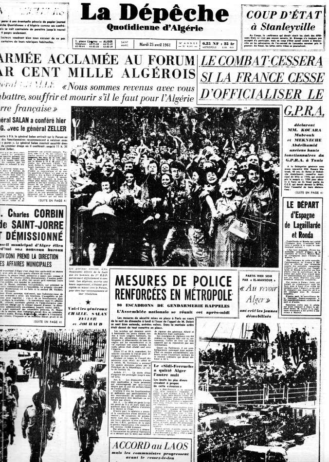 """ALGERIE PRESSE  1961 """"spécial PUTSCH""""  2ème partie 124"""