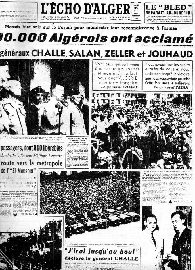 """ALGERIE PRESSE  1961 """"spécial PUTSCH""""  2ème partie 126"""